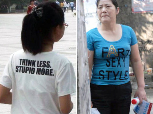 Asians Don't Even Suspect That Anything Could Be Wrong With Their Clothes…