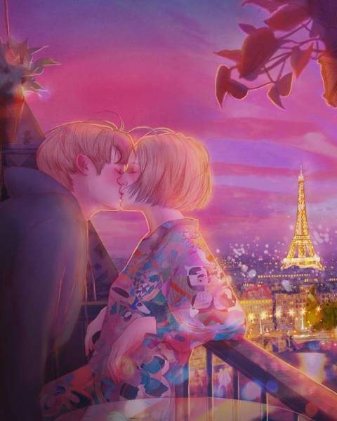 This Korean Illustrator Manages To Capture The Very Essence Of Romance!
