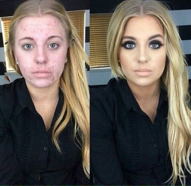 Before And After Makeup Isn't Always The Same Person