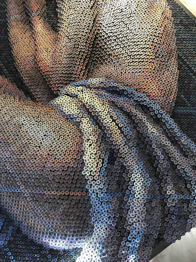 These Pieces Of Art Are Made Entirely From Screws!