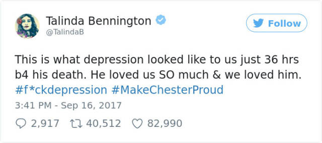 Chester Bennington's Wife Has Shown The World How His Depression Looked Like 36 Hours Before His Suicide