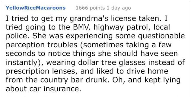The Internet's Response To A Question If Elder People Need Retesting Before Driving