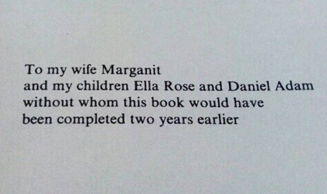 Not All Book Dedications Are Lame And Boring