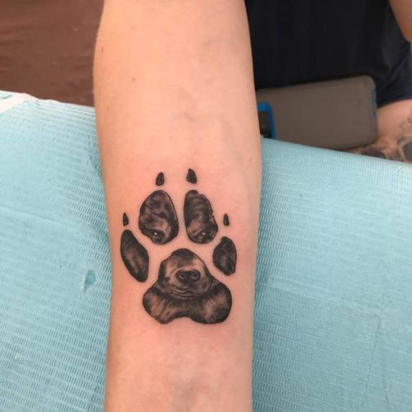 The Most Brilliant Way To Immortalize Your Dog Is To Get A Tattoo With Its Paw