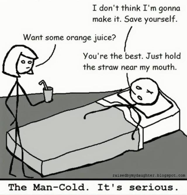 Women Will Never Understand How Lethal Cold Can Be To A Man. They Can Only Meme About It