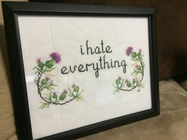 Cross Stitches Can Be Pretty Badass Too