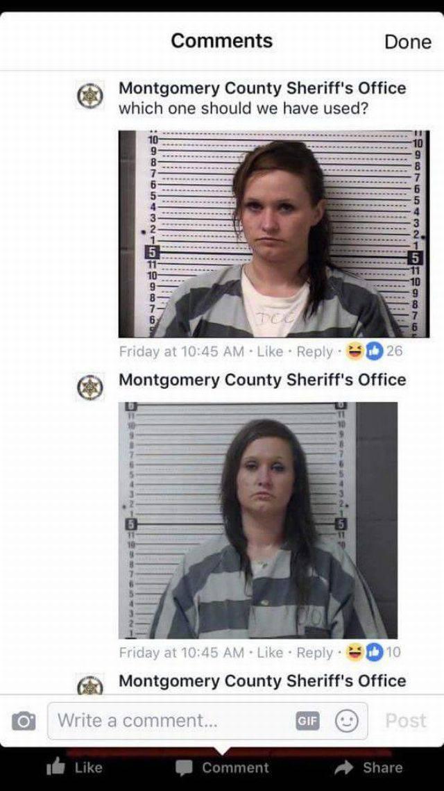 She Shouldn't Have Asked Sheriff's Dept. For A Better Mugshot