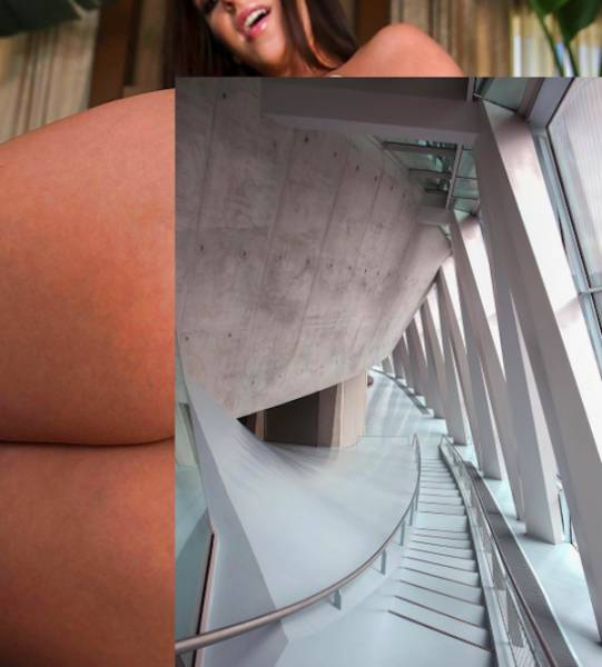 There Is A Very Thin Line Between Woman's Body And Architectural Art