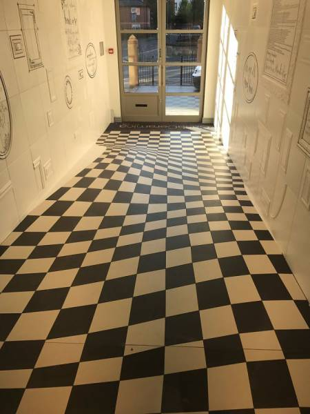 This Tile Company Has Created A Perfect Advertisement For Themselves Simply By Designing Their Own Hallway With An Illusion