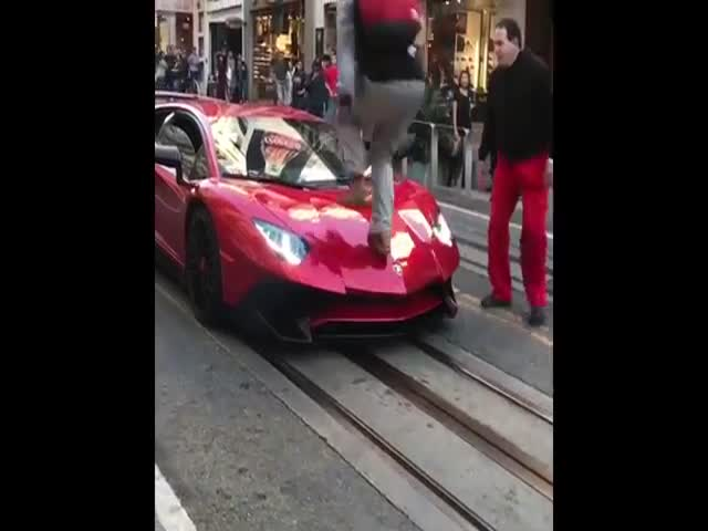 He Should've Thought Better Before Running Over A Lamborghini…