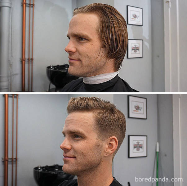 Sometimes It Takes A Simple Haircut To Transform A Man Completely
