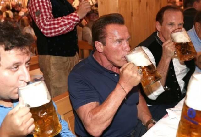 Arnie Loves Beer And Never Misses An Oktoberfest!