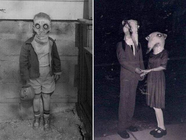 Vintage Halloween Costumes Were REALLY Terrifying!