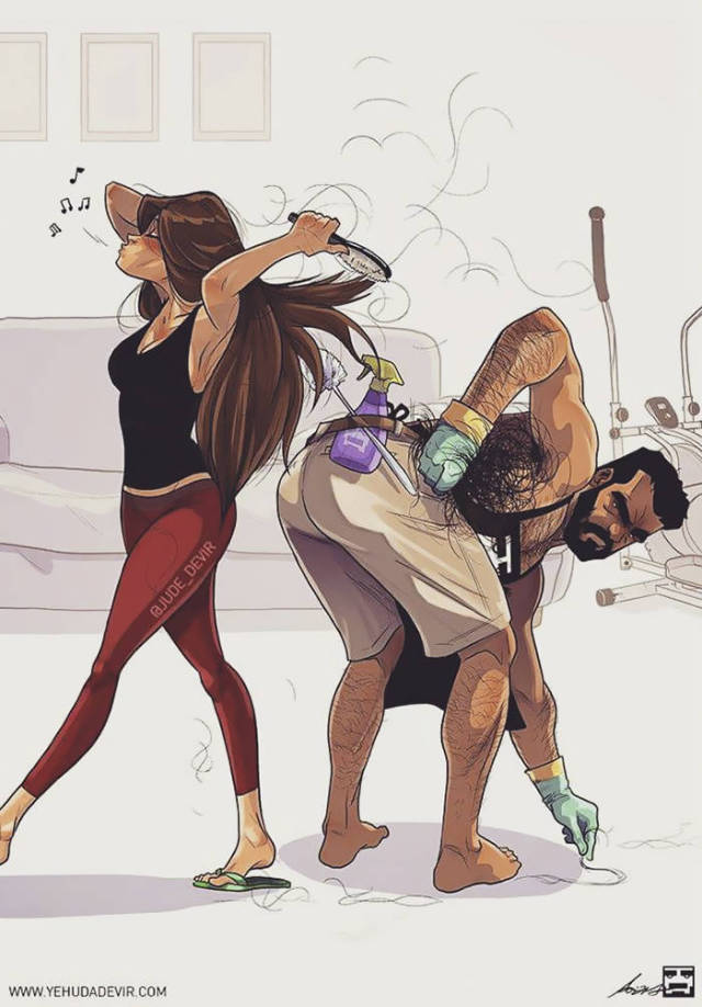 Yehuda Devir Creates Some Of The Most Relatable Drawings About Relationships