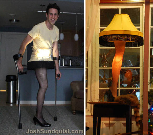 This One-Legged Guy Invents The Most Creative Halloween Costumes For Himself