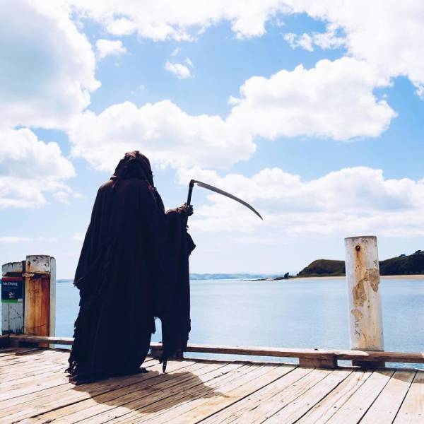 """""""The Swim Reaper"""" Will Catch You Whenever You Are Not Safe On Water"""