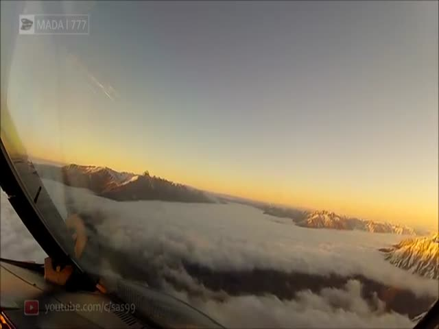 Landing At Queenstown, New Zealand From Pilot's Perspective Looks Like This