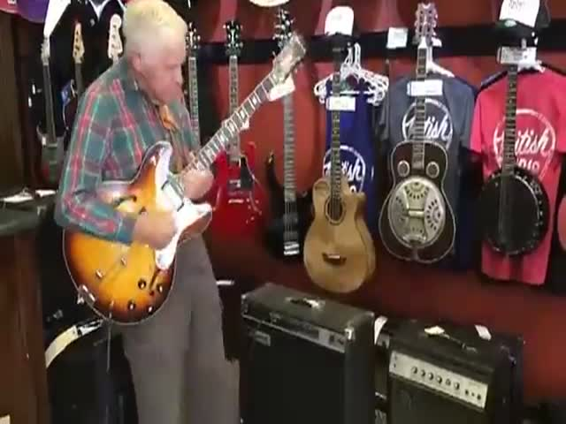 This Old Man Shows What You Do With A Guitar