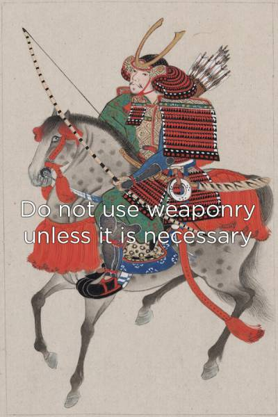 Samurai Knew How One Has To Live A Life