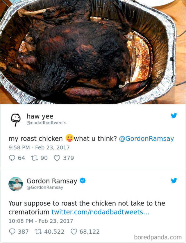 "Gordon Ramsay Is Always Up To Giving Some ""Spicy"" Feedback On Amateur Cooking"