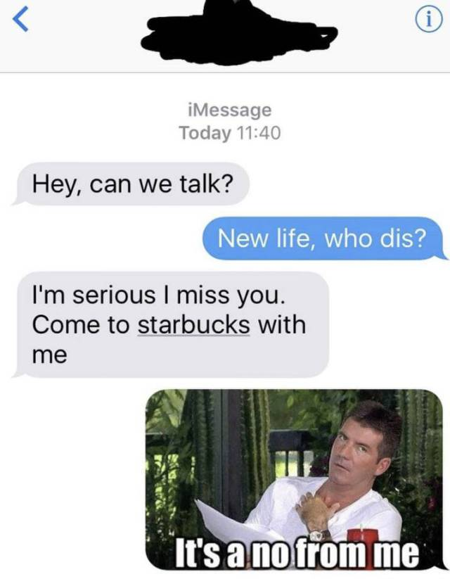 Responds To Ex Texts Are Always So Savage…