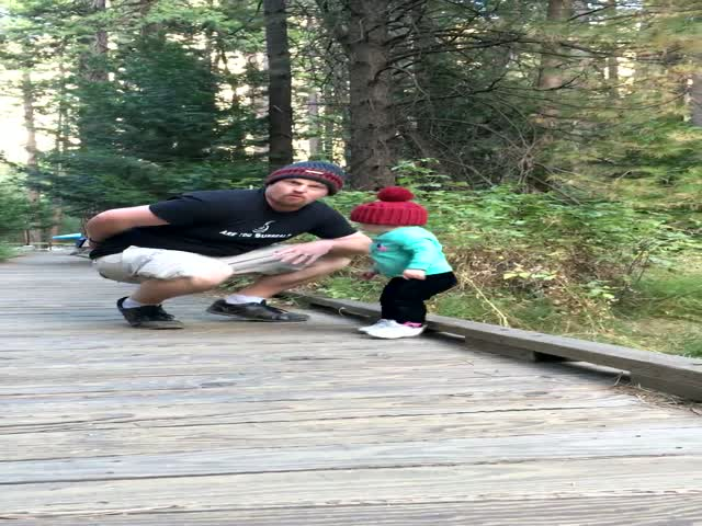 Dad Has Some Light-Speed Reflexes