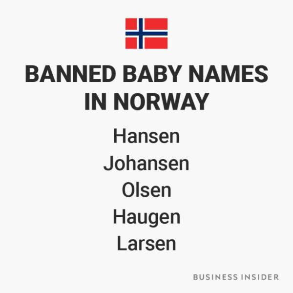 You Can't Name Your Child Like This In Certain Countries Around The World