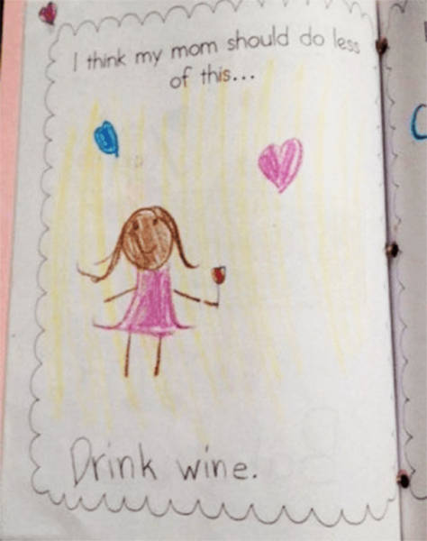Your Kids Always Can Draw Something Extra About You 18 Pics