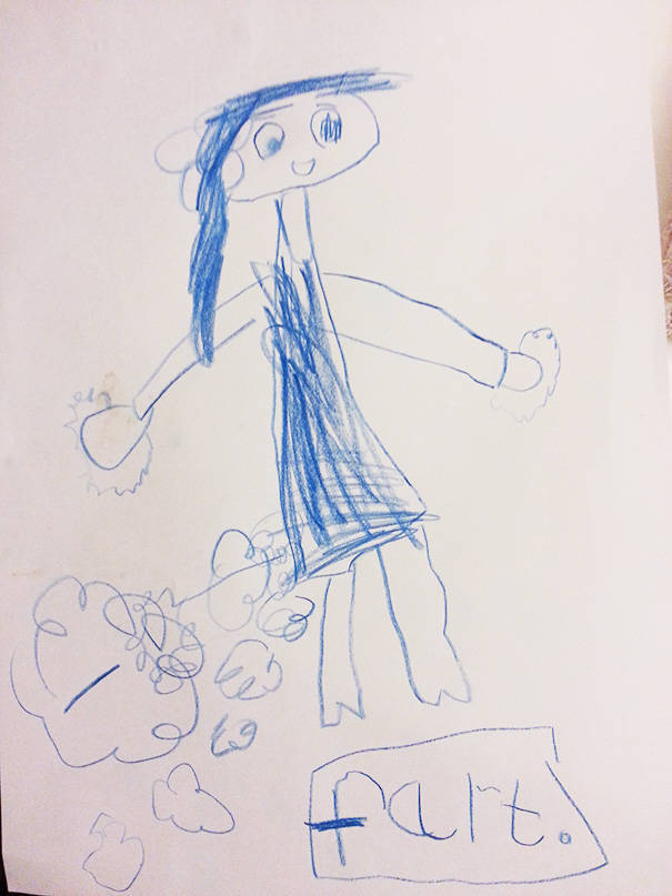 Your Kids Always Can Draw Something Extra About You