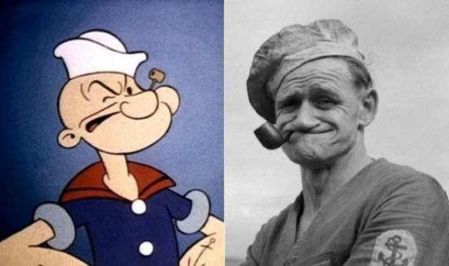 Actually, These Cartoon Characters Had Their Real-Life Prototypes