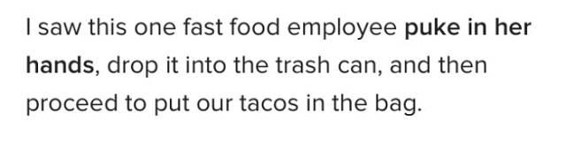 Restaurants Have Too Much Gross Stuff Inside