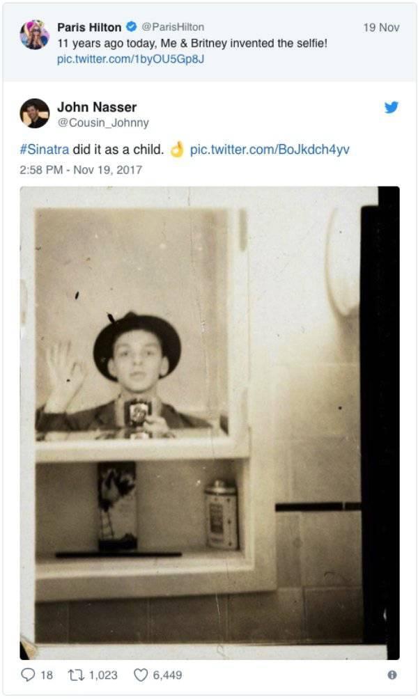 Sorry, Paris Hilton, You Didn't Invent Selfies