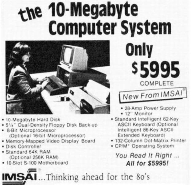 Old And Expensive Technology Also Had To Be Advertised During Its Time