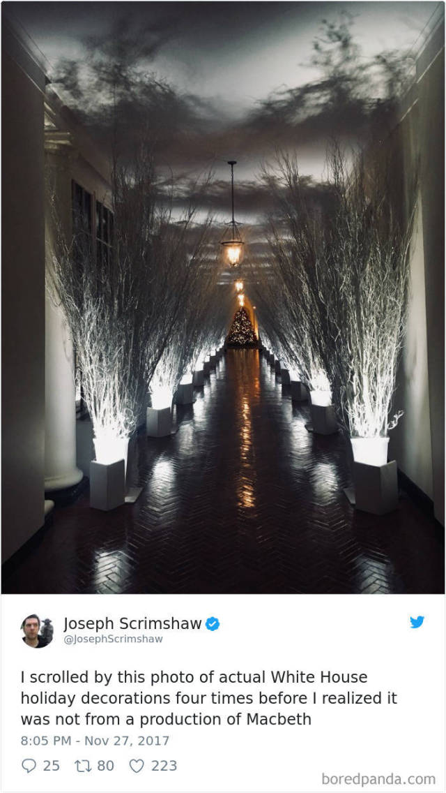 Melania Trump's White House Christmas Decorations Have Generated Quite A Response From The Internet