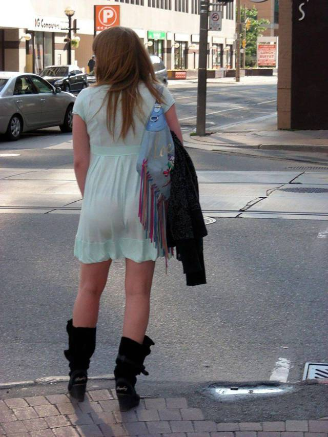 You Can See Through These Girls' Clothes!