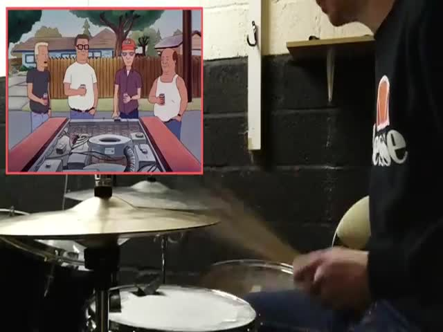 When Boomhauer Gets A Drum Cover