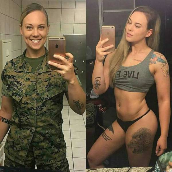 Girls Are Beautiful Both With And Without Their Uniform