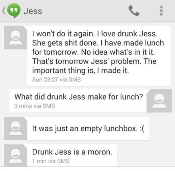 That's Why You Never Drink And Text