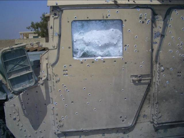 This Humvee's Armor Saved Some Lives From A Bomb Explosion