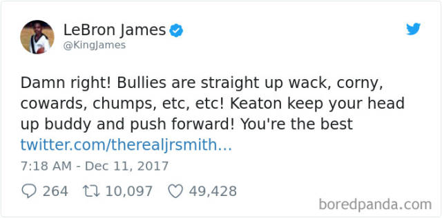 Bullied Kid Gets Unsuspected Support From A Whole Bunch Of Celebs