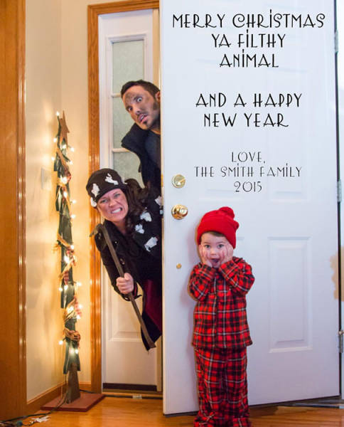 Families That Created The Funniest Christmas Cards (40 ...