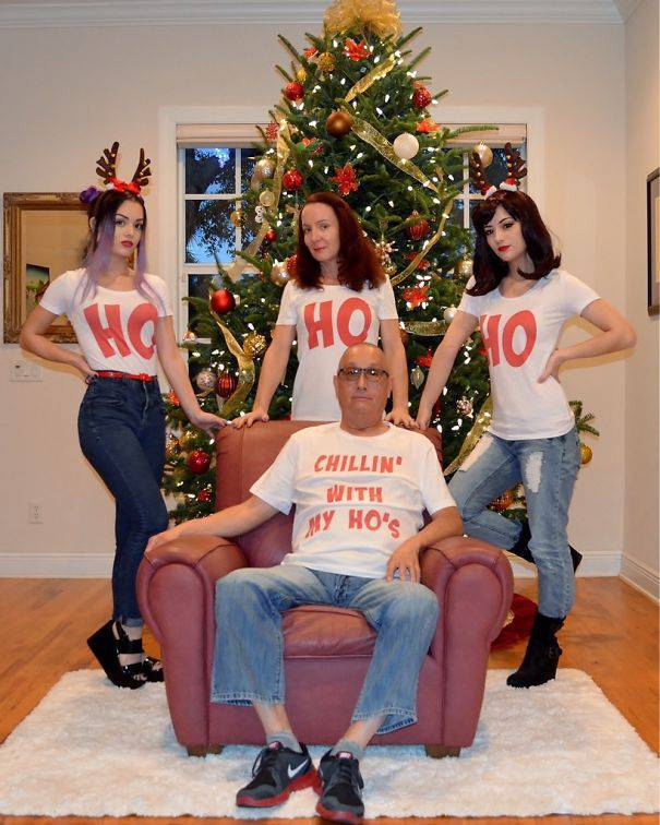 Families That Created The Funniest Christmas Cards