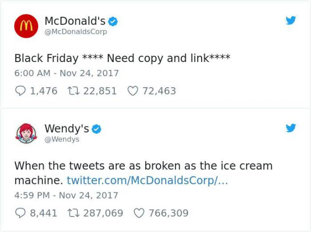 """Wendy's"" Is Good Both At Roasting Meat And Other Twitter Users"