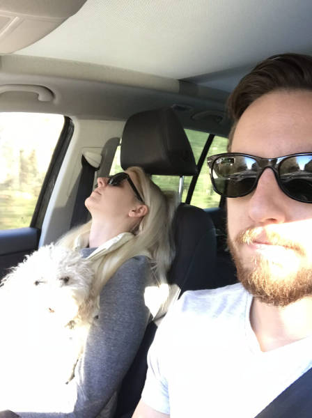She's Clearly Excited About Their Road Trips…