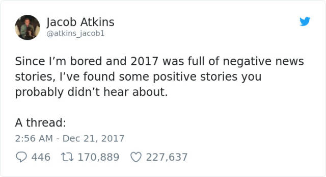 2017 Was Full Of Positive News You Might've Missed