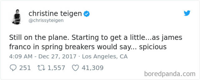 Chrissy Teigen Has Burned This Airline To Crisp After Her Awful Flight