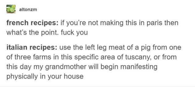 Tumblr Reveals Secrets Of Each Country's Recipes And They're Brilliant!