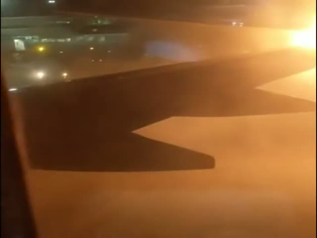 Two Planes Collided, One Caught On Fire, Passengers Lost It