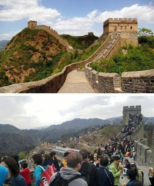 How Popular Travel Destination Photos Should Really Look Like