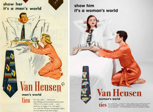 What If Vintage Sexist Ads Were Sexist Towards Men Instead…
